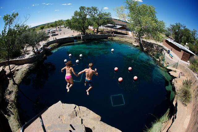 Blue Hole Cliff Jump